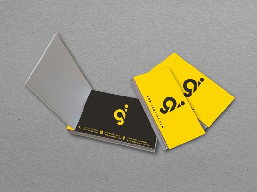 כרטיסי ביקור נתלשים - פנקסים ממותגים
